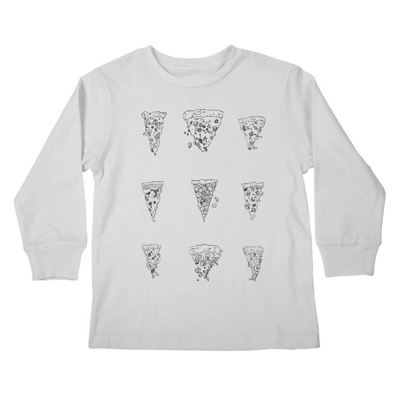 Pizza Sweatshirt Kids Longsleeve T-Shirt by mikesobeck's Artist Shop