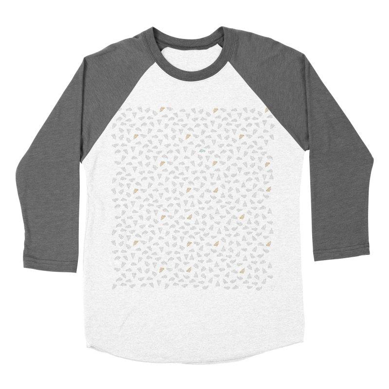 Tiny Pizzas Men's Baseball Triblend Longsleeve T-Shirt by mikesobeck's Artist Shop