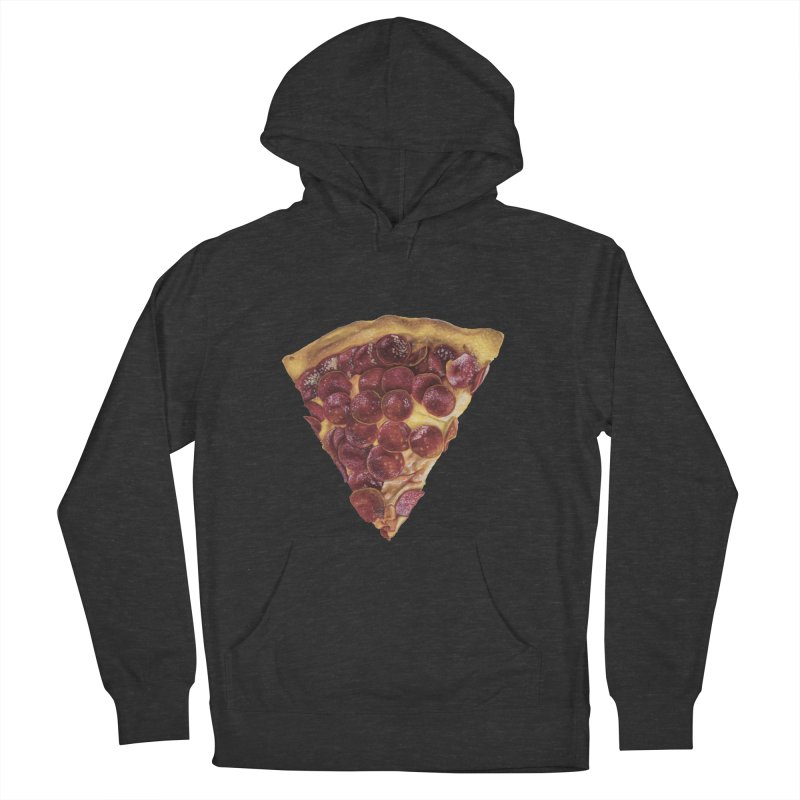 Pepperoni Men's French Terry Pullover Hoody by mikesobeck's Artist Shop