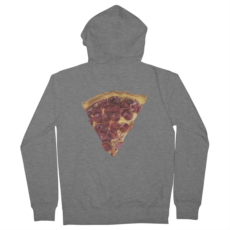 Pepperoni Men's French Terry Zip-Up Hoody by mikesobeck's Artist Shop