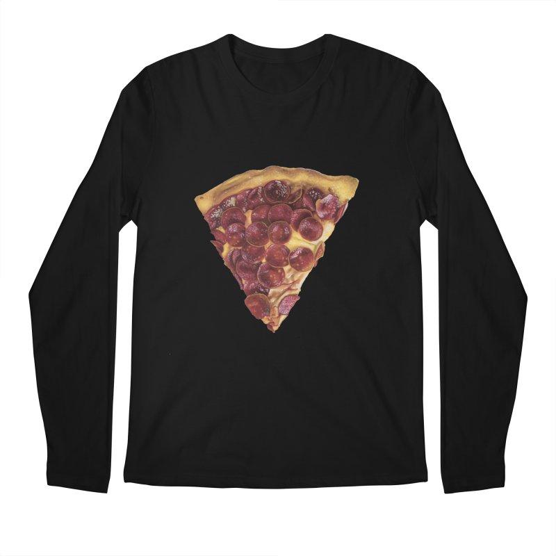 Pepperoni Men's Regular Longsleeve T-Shirt by mikesobeck's Artist Shop