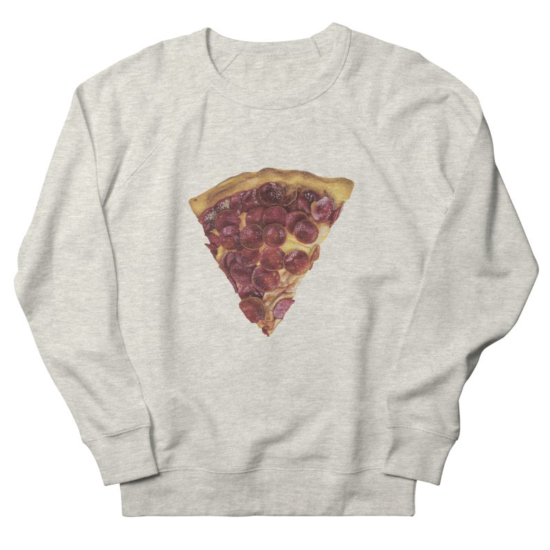 Pepperoni Men's French Terry Sweatshirt by mikesobeck's Artist Shop