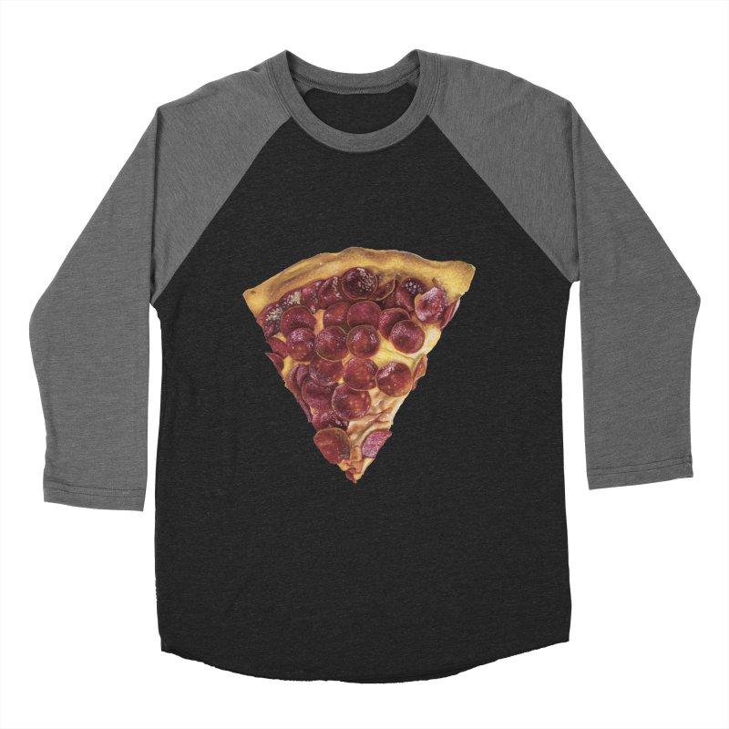 Pepperoni Women's Baseball Triblend T-Shirt by mikesobeck's Artist Shop