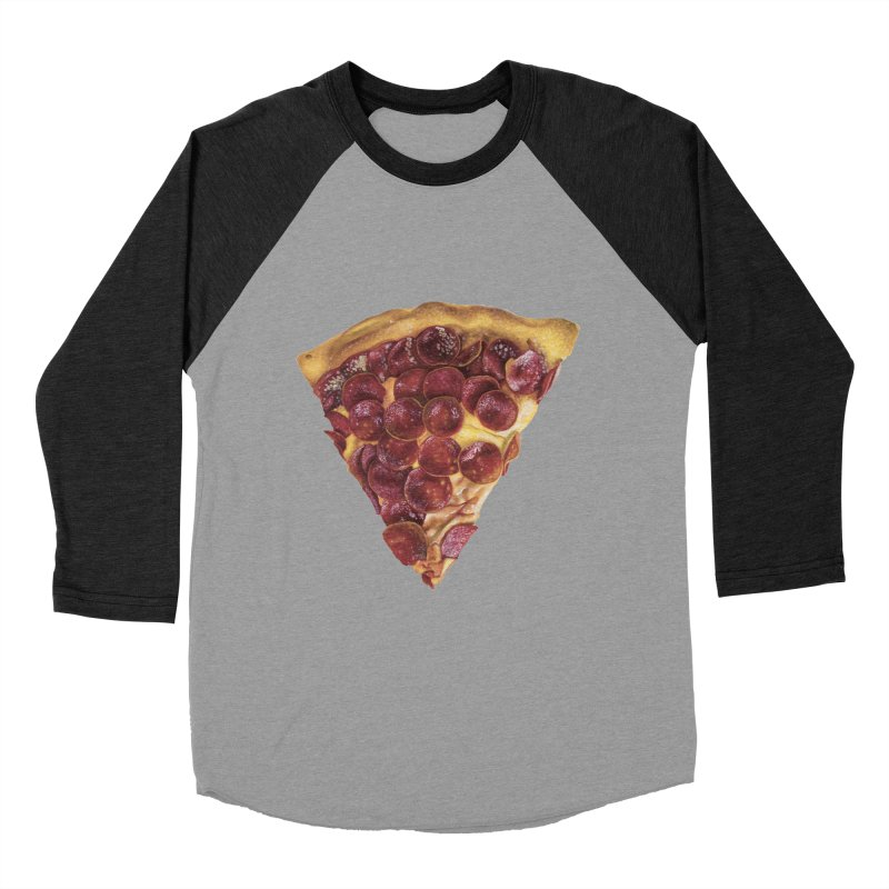 Pepperoni Men's Baseball Triblend Longsleeve T-Shirt by mikesobeck's Artist Shop