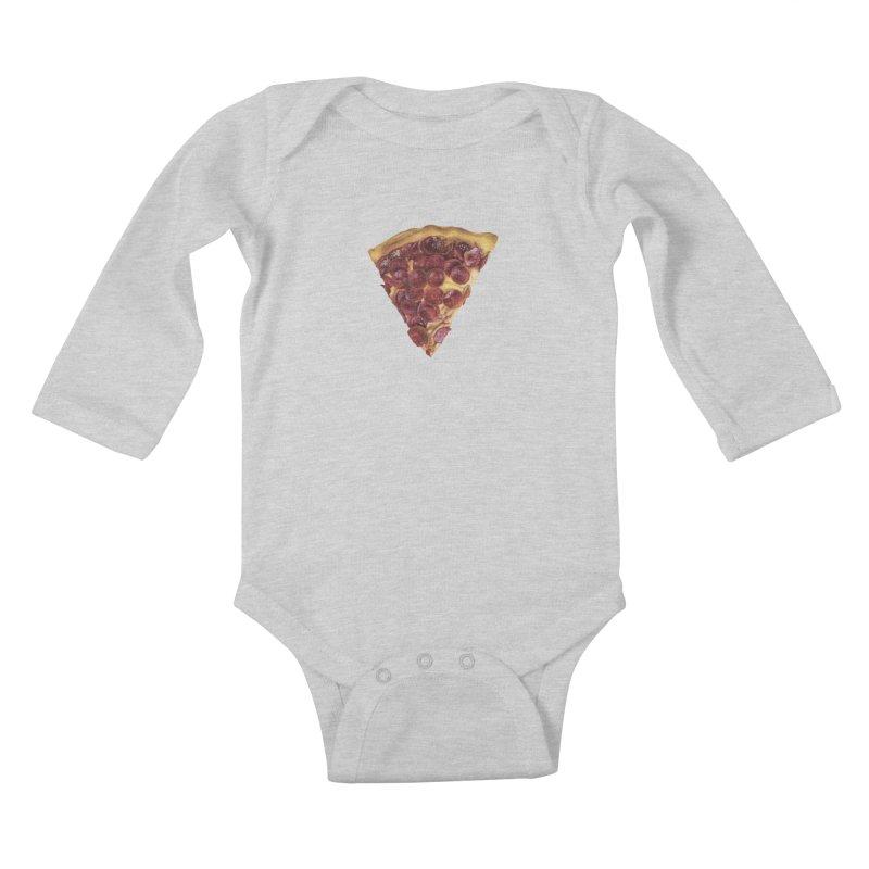 Pepperoni Kids Baby Longsleeve Bodysuit by mikesobeck's Artist Shop
