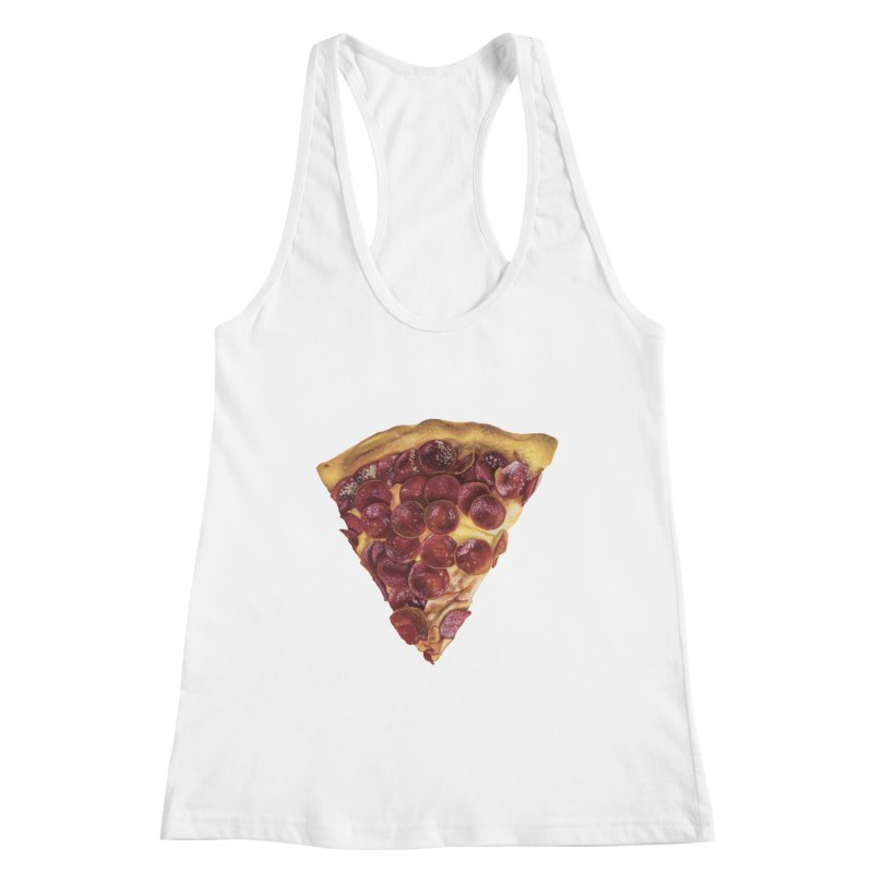 Pepperoni Women's Racerback Tank by mikesobeck's Artist Shop