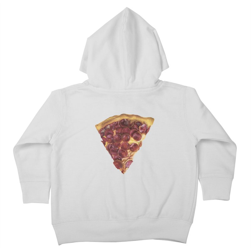 Pepperoni Kids Toddler Zip-Up Hoody by mikesobeck's Artist Shop