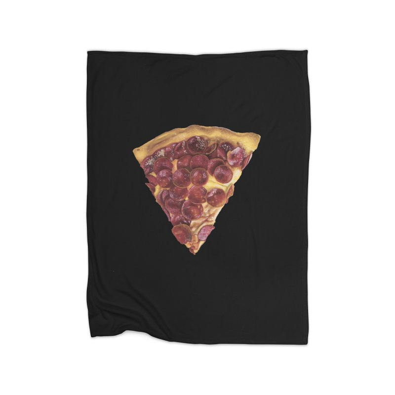 Pepperoni Home Fleece Blanket Blanket by mikesobeck's Artist Shop