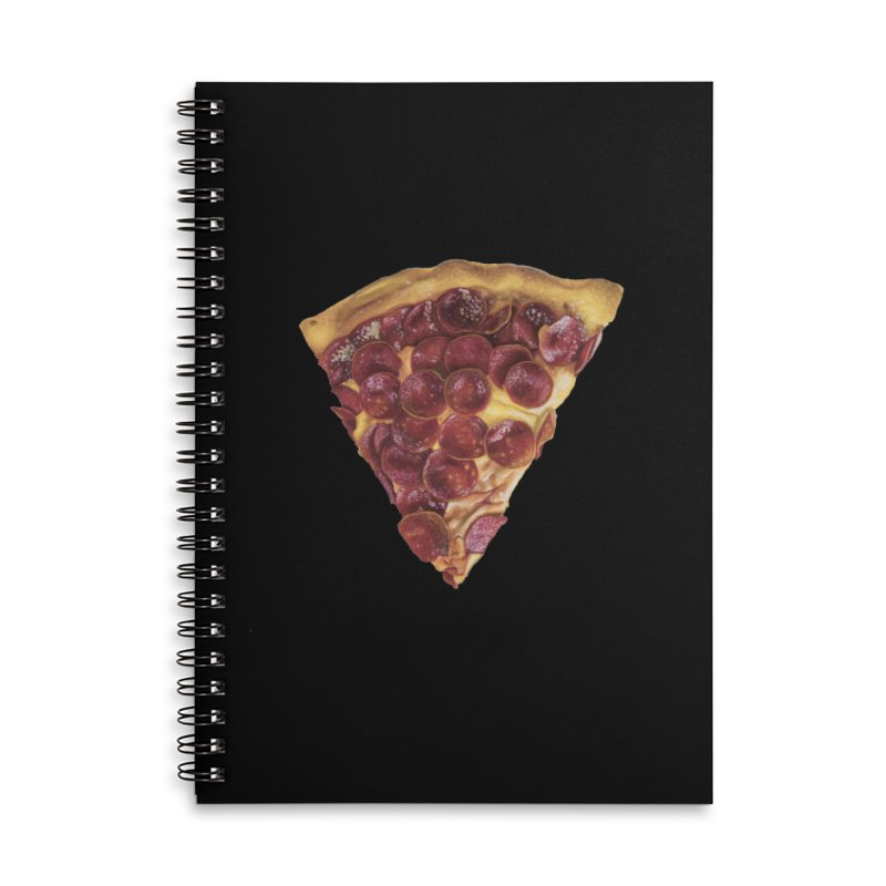 Pepperoni Accessories Lined Spiral Notebook by mikesobeck's Artist Shop
