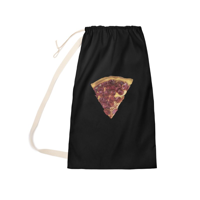 Pepperoni Accessories Laundry Bag Bag by mikesobeck's Artist Shop