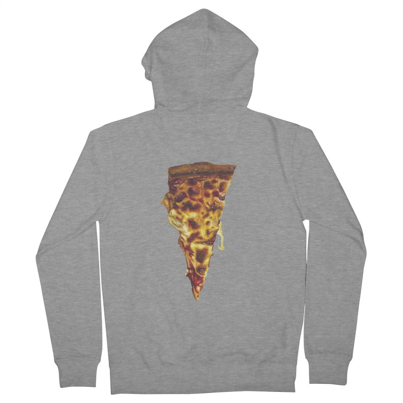 Cheese Men's French Terry Zip-Up Hoody by mikesobeck's Artist Shop