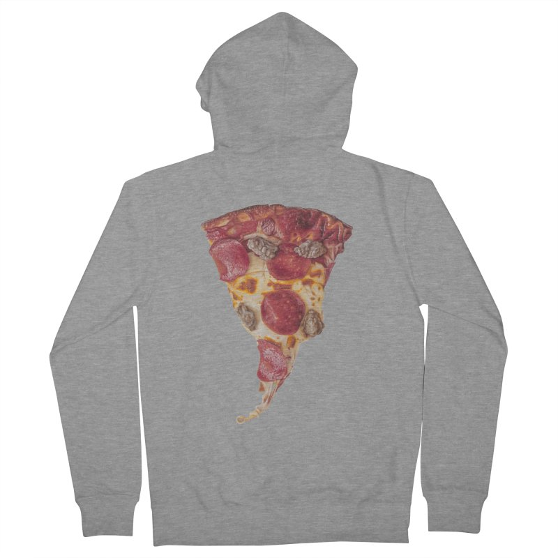 Pepperoni and Sausage Women's French Terry Zip-Up Hoody by mikesobeck's Artist Shop
