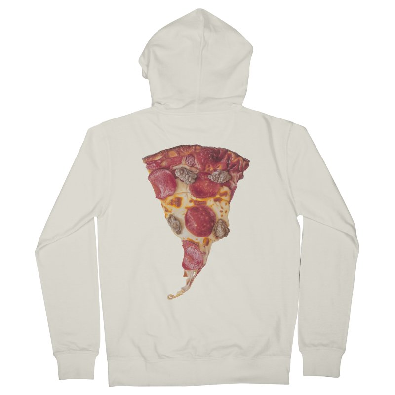 Pepperoni and Sausage Men's French Terry Zip-Up Hoody by mikesobeck's Artist Shop