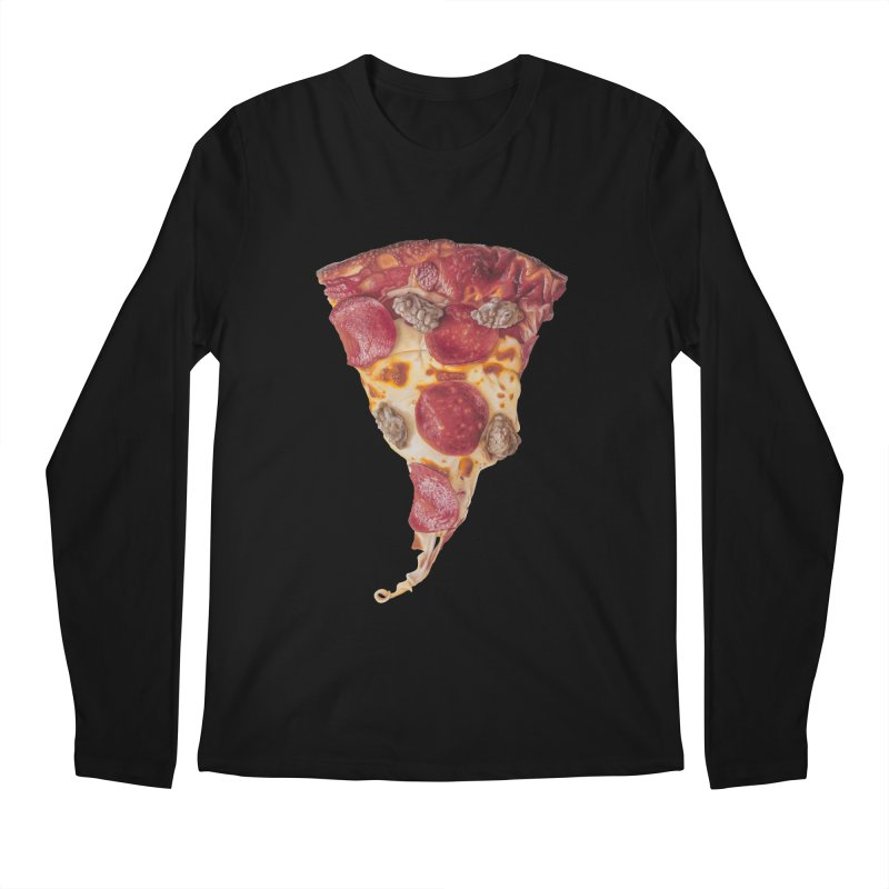 Pepperoni and Sausage Men's Regular Longsleeve T-Shirt by mikesobeck's Artist Shop