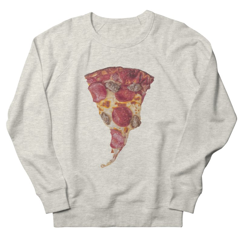 Pepperoni and Sausage Men's French Terry Sweatshirt by mikesobeck's Artist Shop
