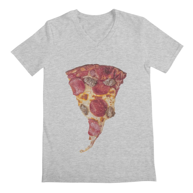 Pepperoni and Sausage Men's Regular V-Neck by mikesobeck's Artist Shop