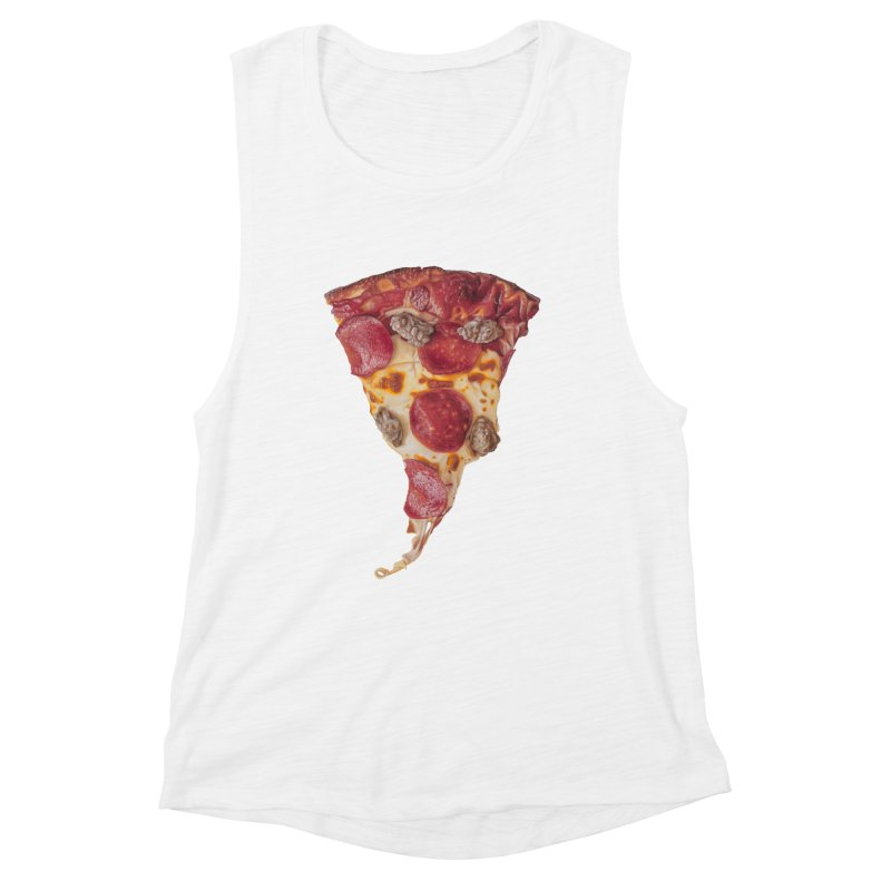 Pepperoni and Sausage Women's Muscle Tank by mikesobeck's Artist Shop