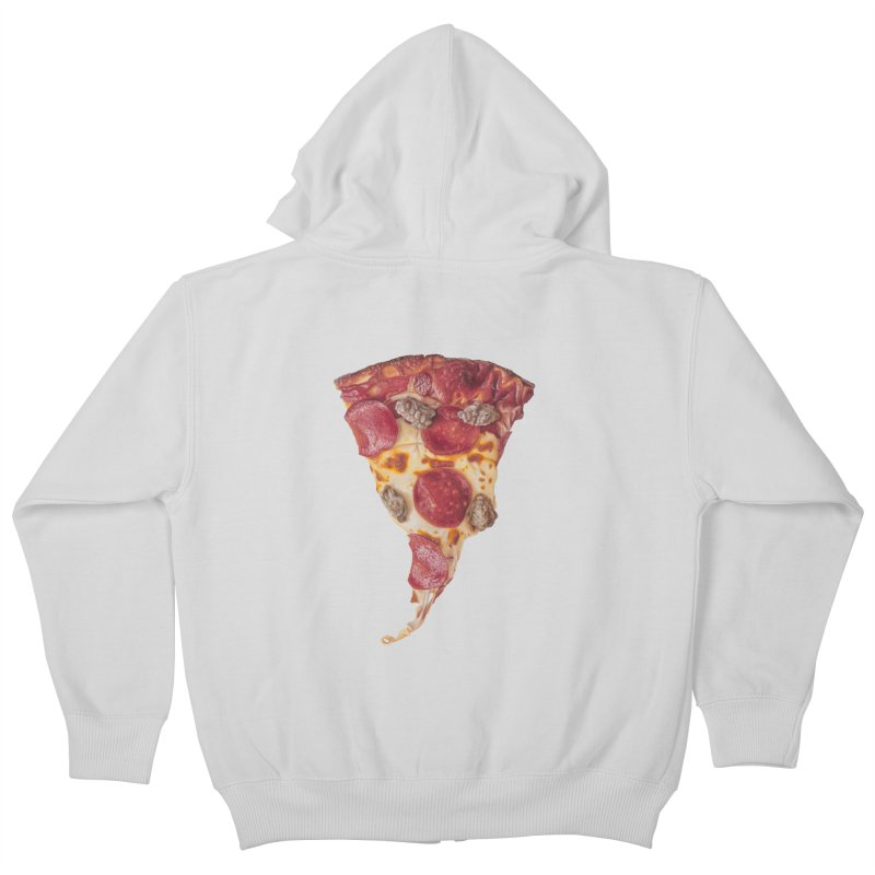 Pepperoni and Sausage Kids Zip-Up Hoody by mikesobeck's Artist Shop