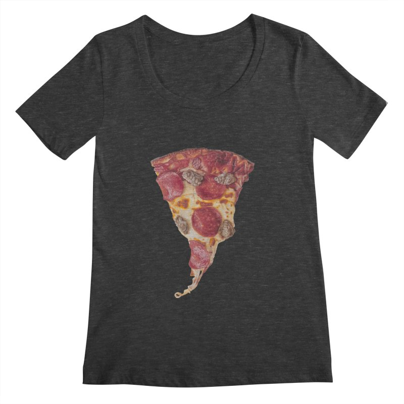 Pepperoni and Sausage Women's Scoopneck by mikesobeck's Artist Shop