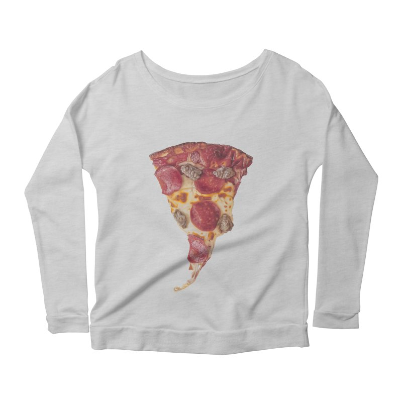Pepperoni and Sausage Women's Scoop Neck Longsleeve T-Shirt by mikesobeck's Artist Shop