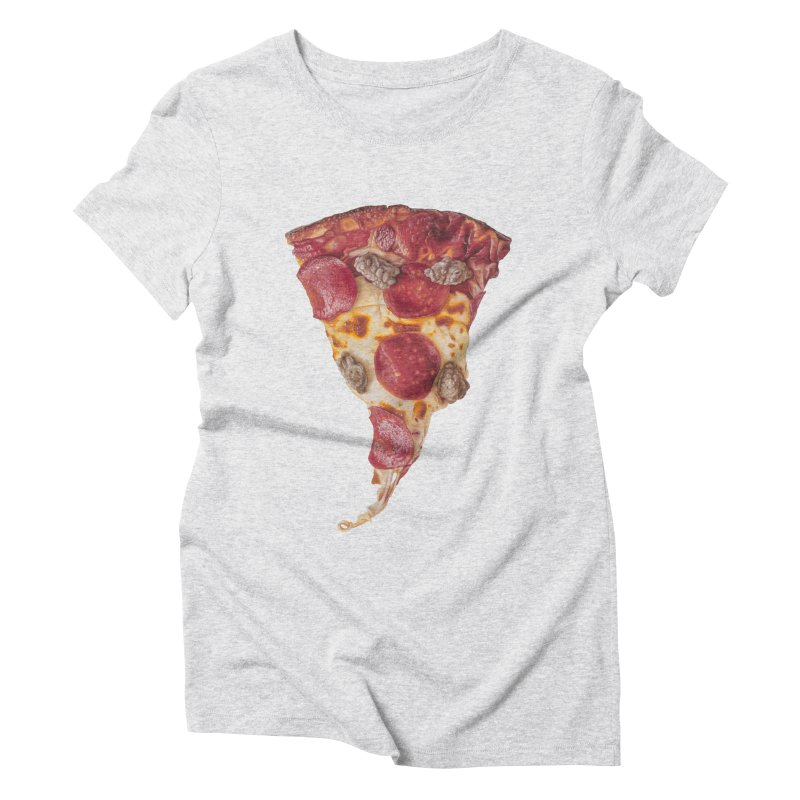 Pepperoni and Sausage Women's Triblend T-Shirt by mikesobeck's Artist Shop