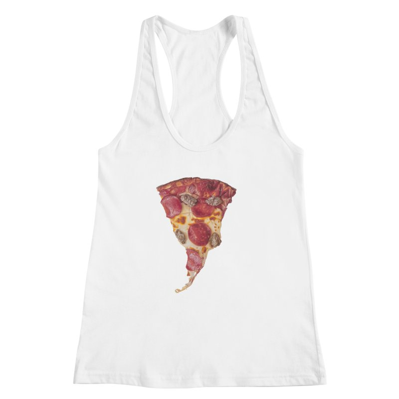Pepperoni and Sausage Women's Racerback Tank by mikesobeck's Artist Shop