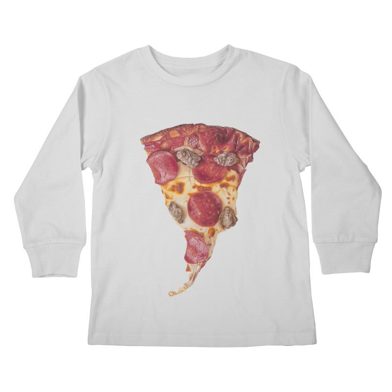 Pepperoni and Sausage Kids Longsleeve T-Shirt by mikesobeck's Artist Shop