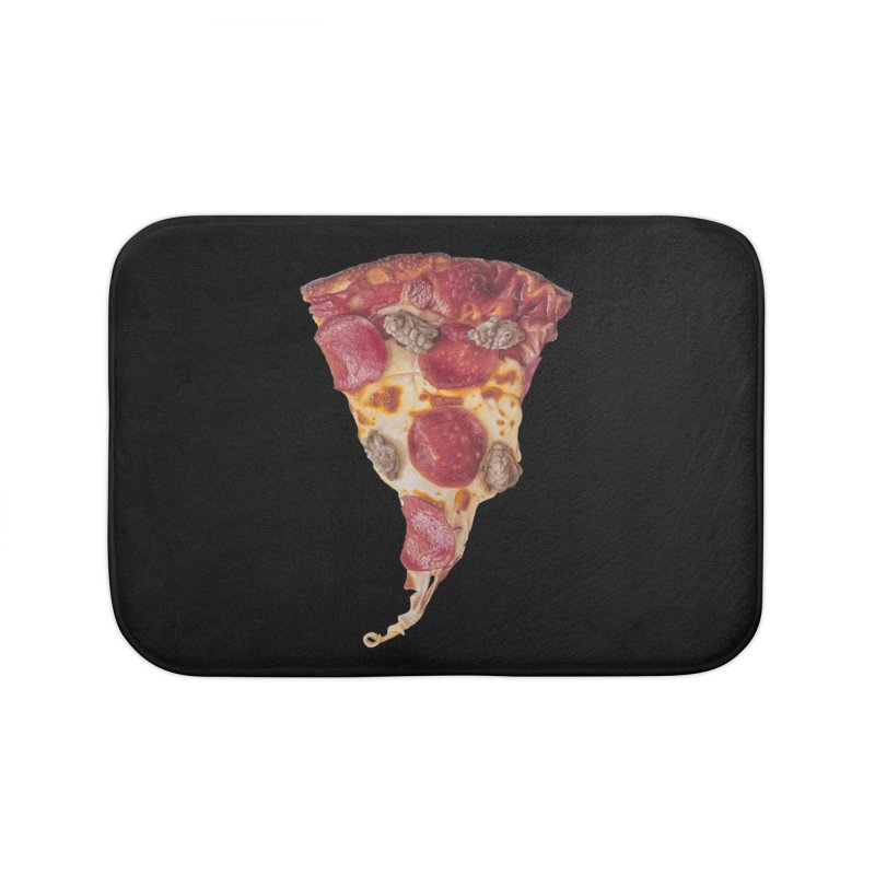 Pepperoni and Sausage Home Bath Mat by mikesobeck's Artist Shop