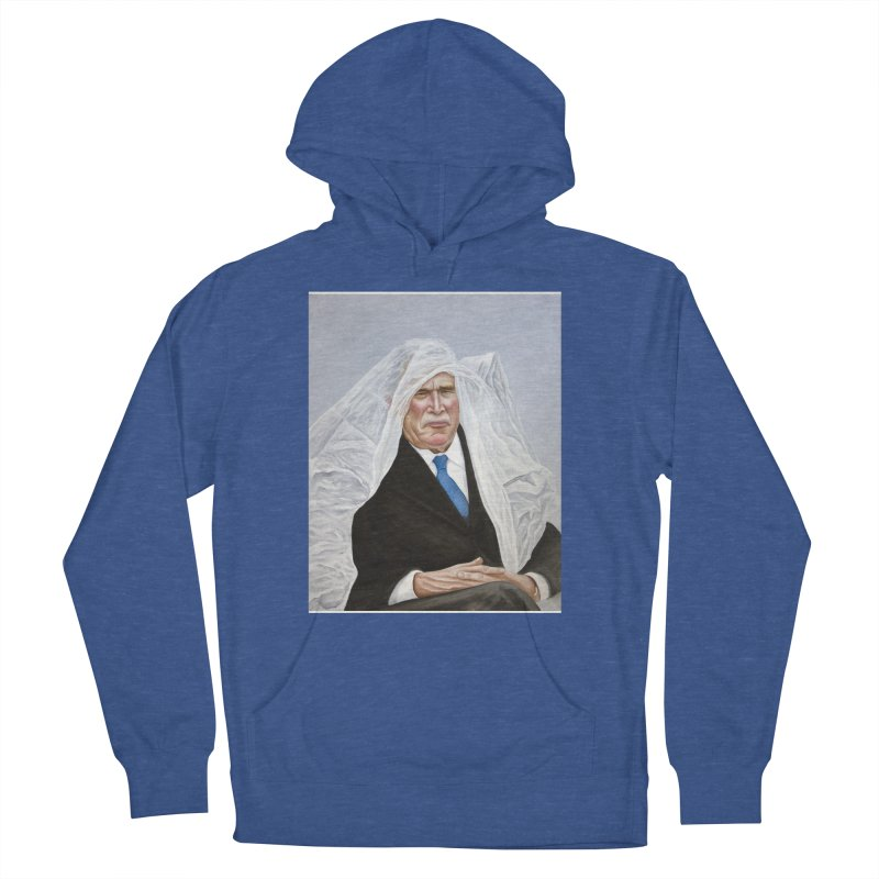 George Bush Men's French Terry Pullover Hoody by mikesobeck's Artist Shop
