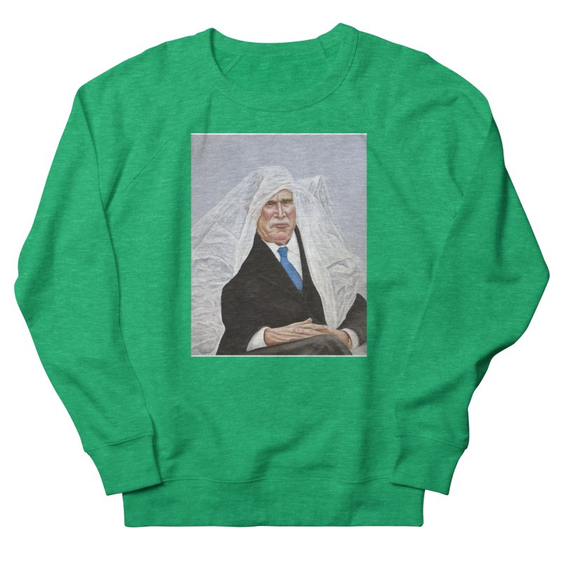 George Bush Men's French Terry Sweatshirt by mikesobeck's Artist Shop