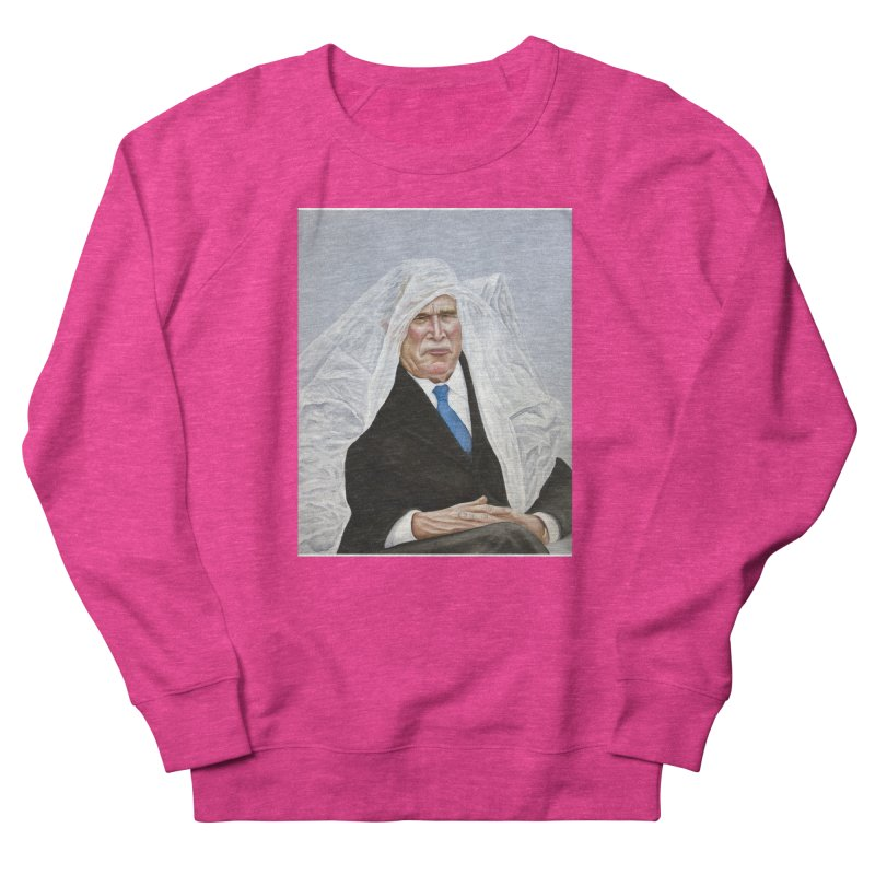 George Bush Men's French Terry Sweatshirt by mikesobeck's Artist Shop