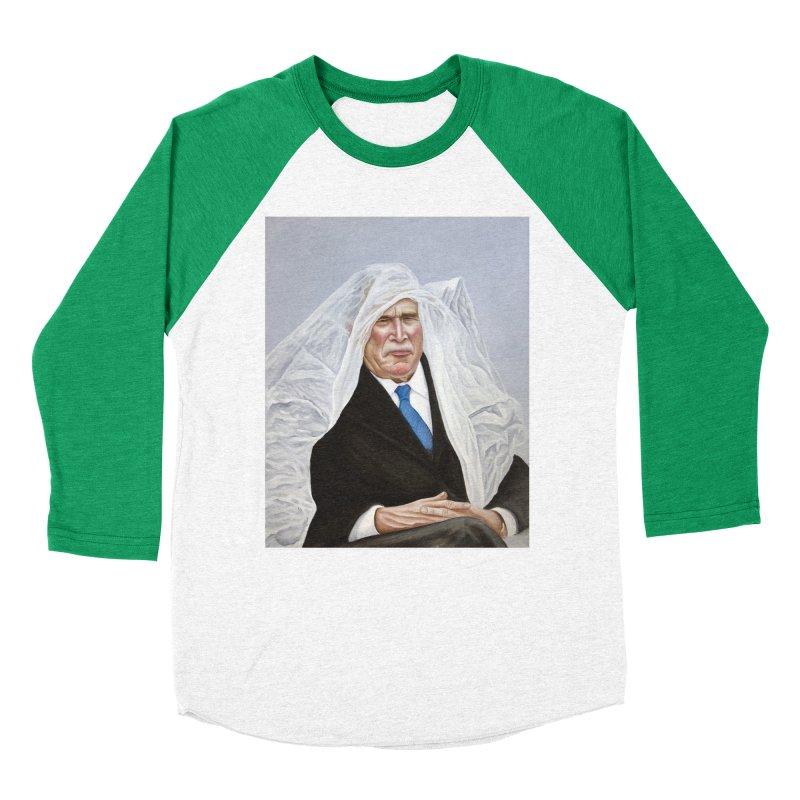 George Bush Women's Baseball Triblend T-Shirt by mikesobeck's Artist Shop