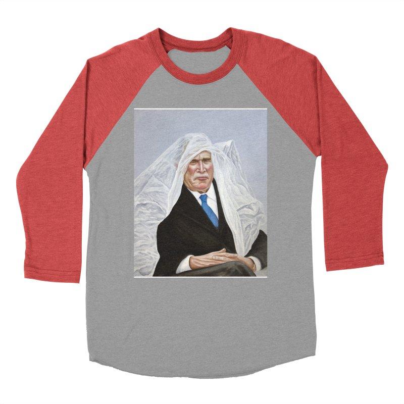 George Bush Women's Baseball Triblend Longsleeve T-Shirt by mikesobeck's Artist Shop
