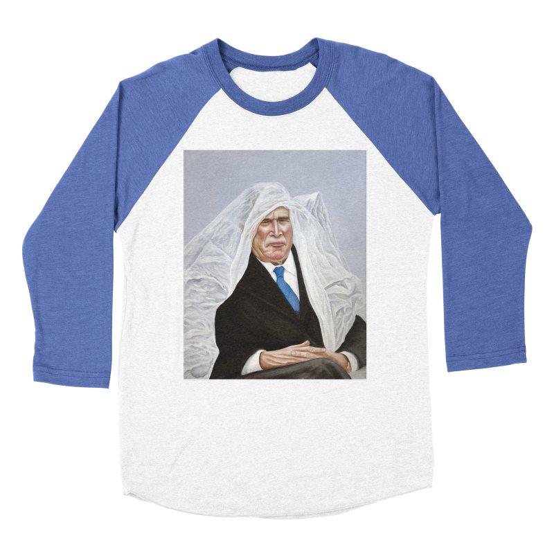 George Bush Men's Baseball Triblend T-Shirt by mikesobeck's Artist Shop