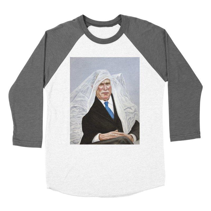 George Bush Men's Baseball Triblend Longsleeve T-Shirt by mikesobeck's Artist Shop