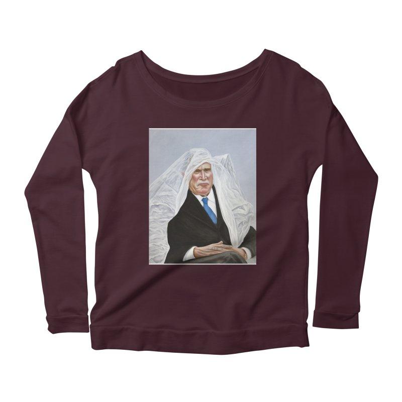 George Bush Women's Scoop Neck Longsleeve T-Shirt by mikesobeck's Artist Shop