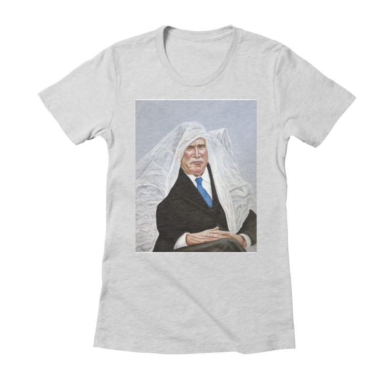 George Bush Women's Fitted T-Shirt by mikesobeck's Artist Shop