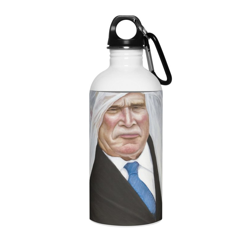 George Bush Accessories Water Bottle by mikesobeck's Artist Shop