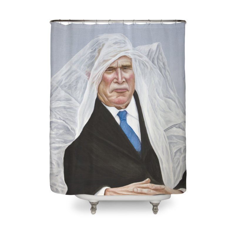 George Bush Home Shower Curtain by mikesobeck's Artist Shop