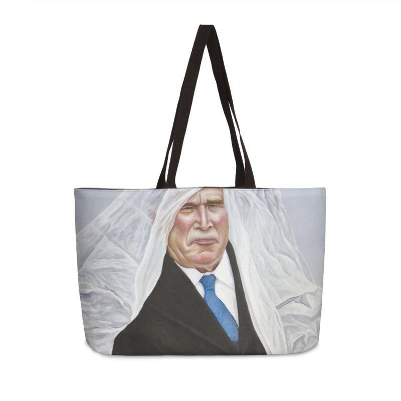 George Bush Accessories Weekender Bag Bag by mikesobeck's Artist Shop