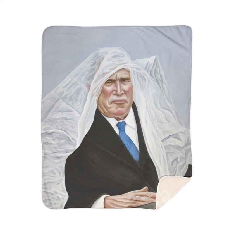 George Bush Home Sherpa Blanket Blanket by mikesobeck's Artist Shop