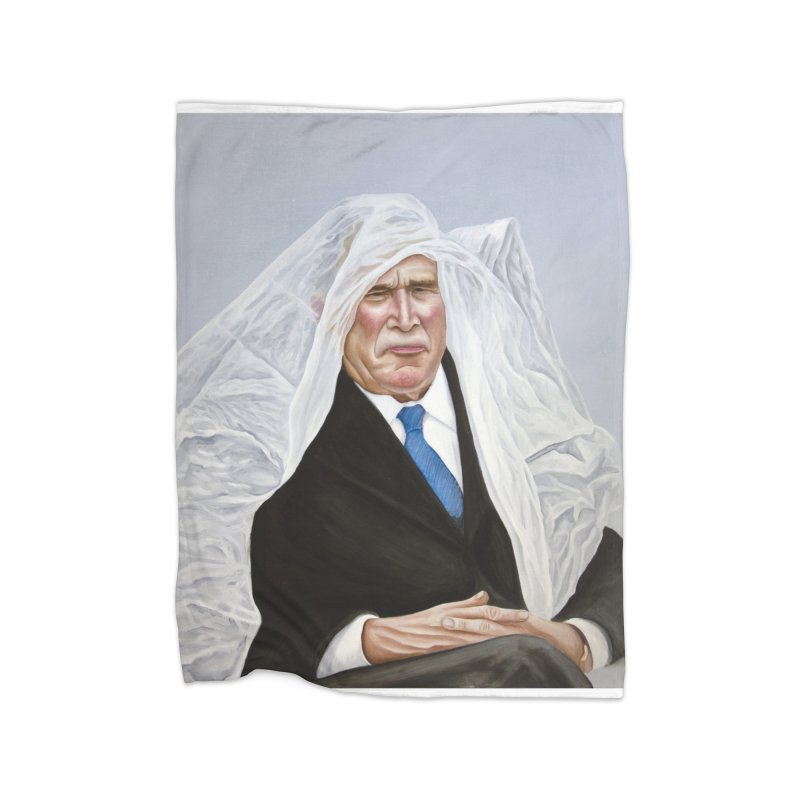 George Bush Home Fleece Blanket Blanket by mikesobeck's Artist Shop