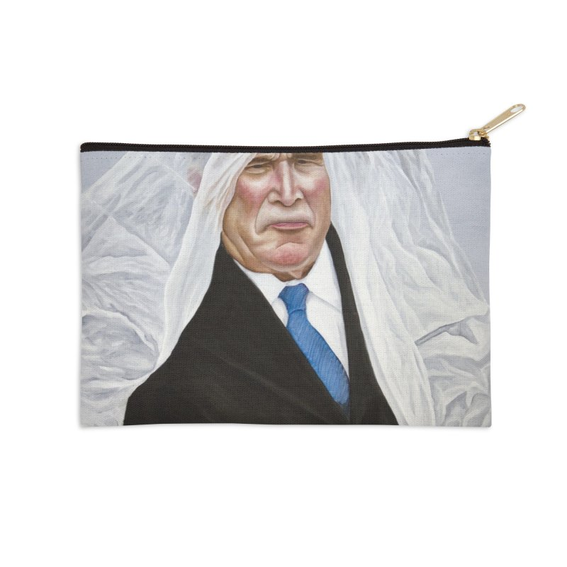 George Bush Accessories Zip Pouch by mikesobeck's Artist Shop