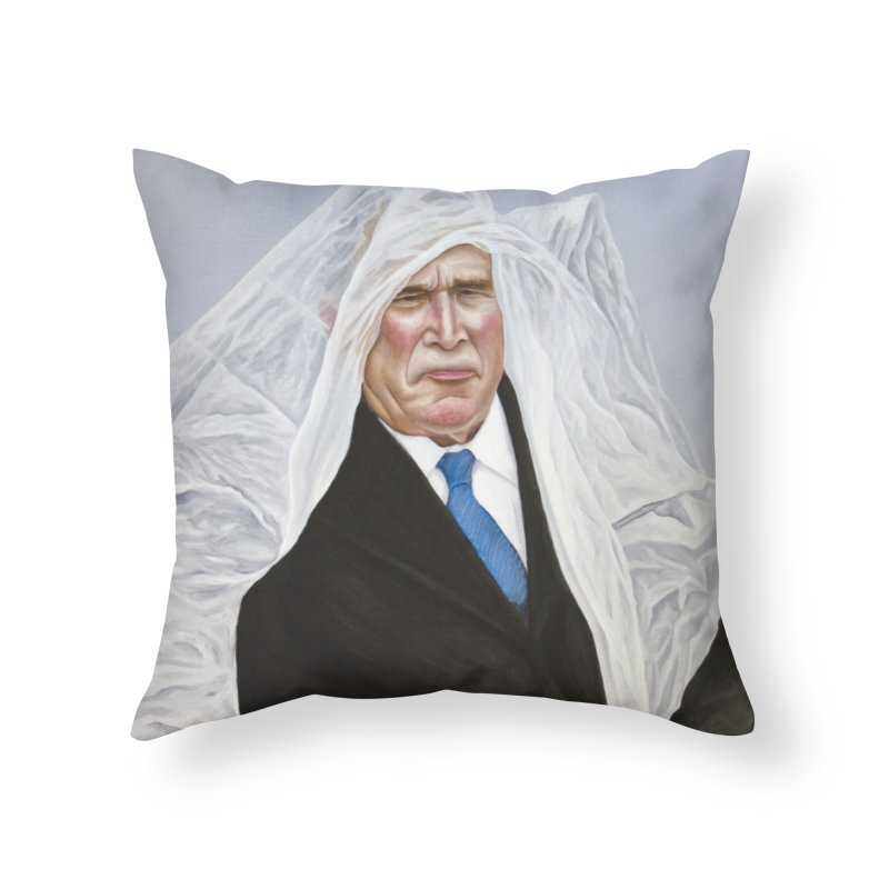 George Bush Home Throw Pillow by mikesobeck's Artist Shop