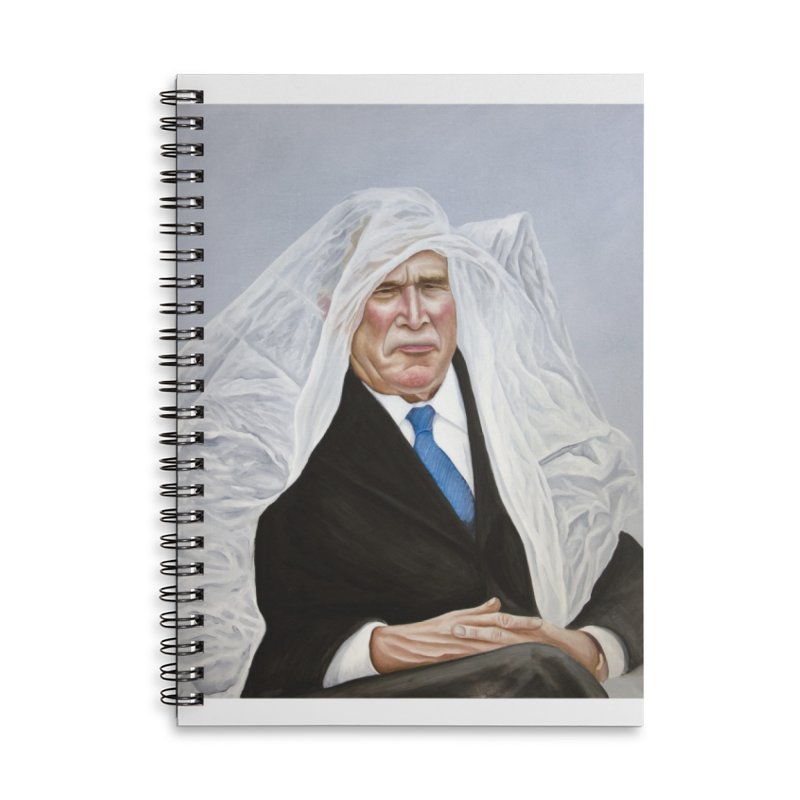 George Bush Accessories Lined Spiral Notebook by mikesobeck's Artist Shop