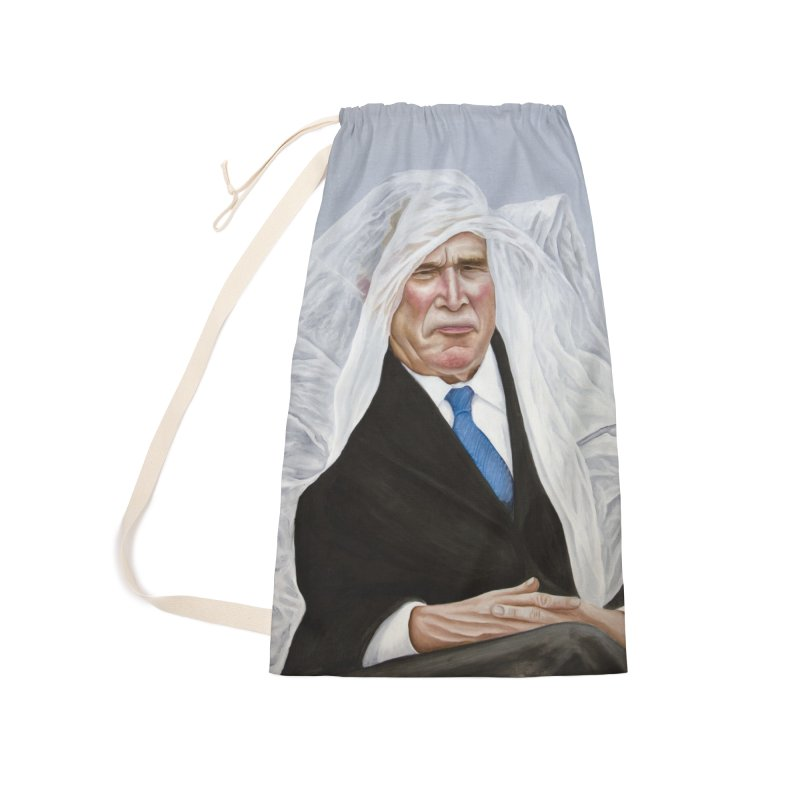 George Bush Accessories Laundry Bag Bag by mikesobeck's Artist Shop