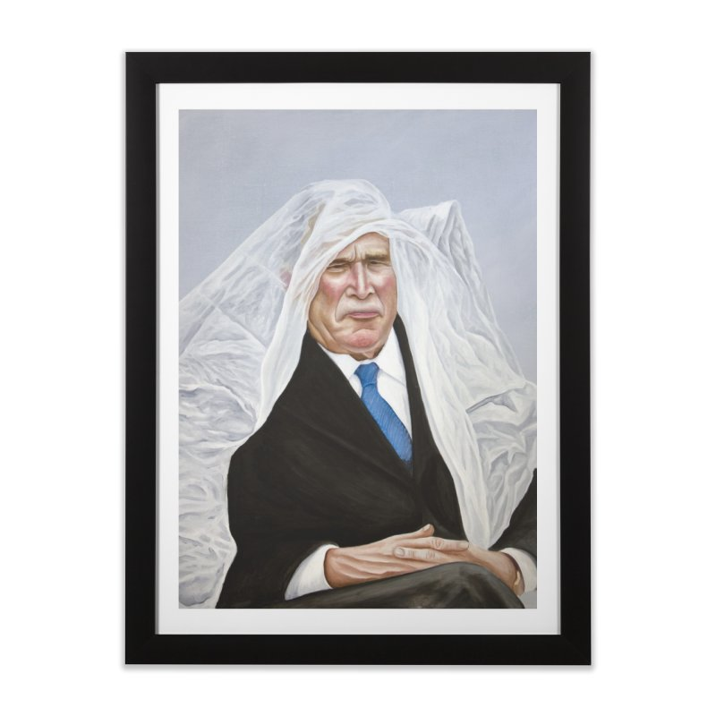 George Bush Home Framed Fine Art Print by mikesobeck's Artist Shop