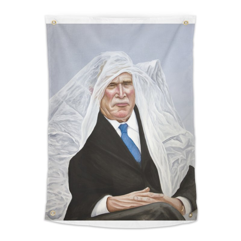 George Bush Home Tapestry by mikesobeck's Artist Shop