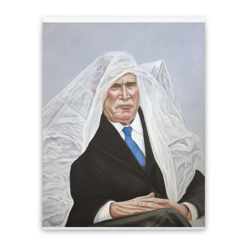 George Bush Home Stretched Canvas by mikesobeck's Artist Shop