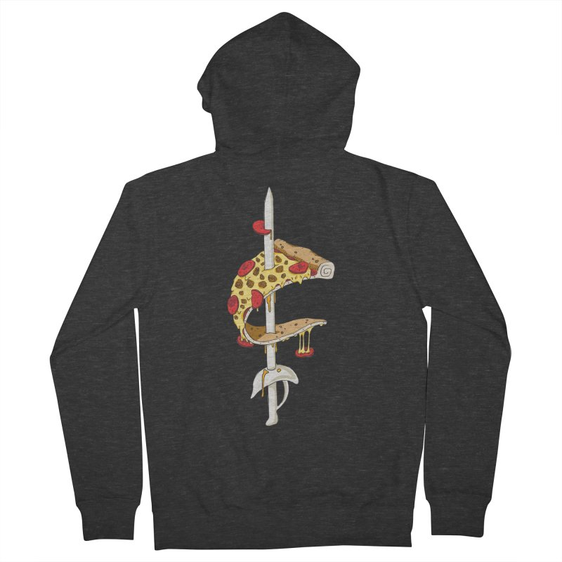 Cavs Pizza Men's French Terry Zip-Up Hoody by mikesobeck's Artist Shop